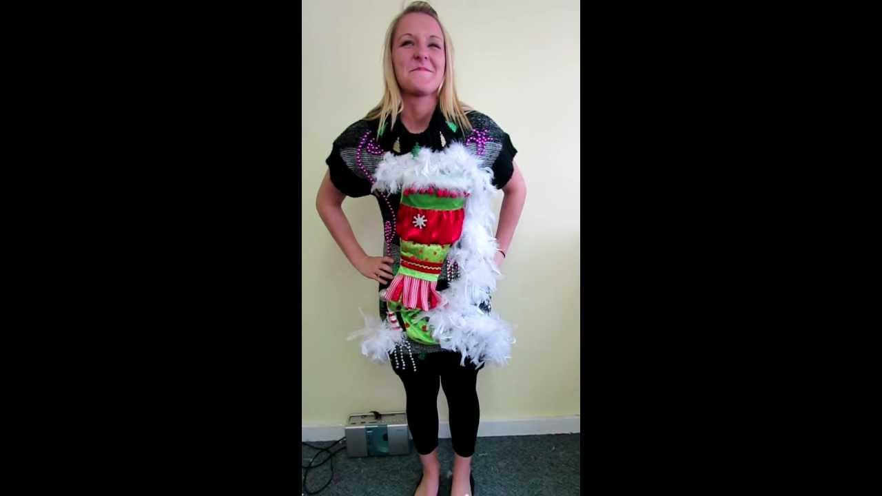 Up mini sweater dress ugly christmas sweater party dress youtube