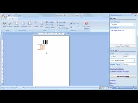 Barcode Add-In for Microsoft Word (All Versions) - YouTube