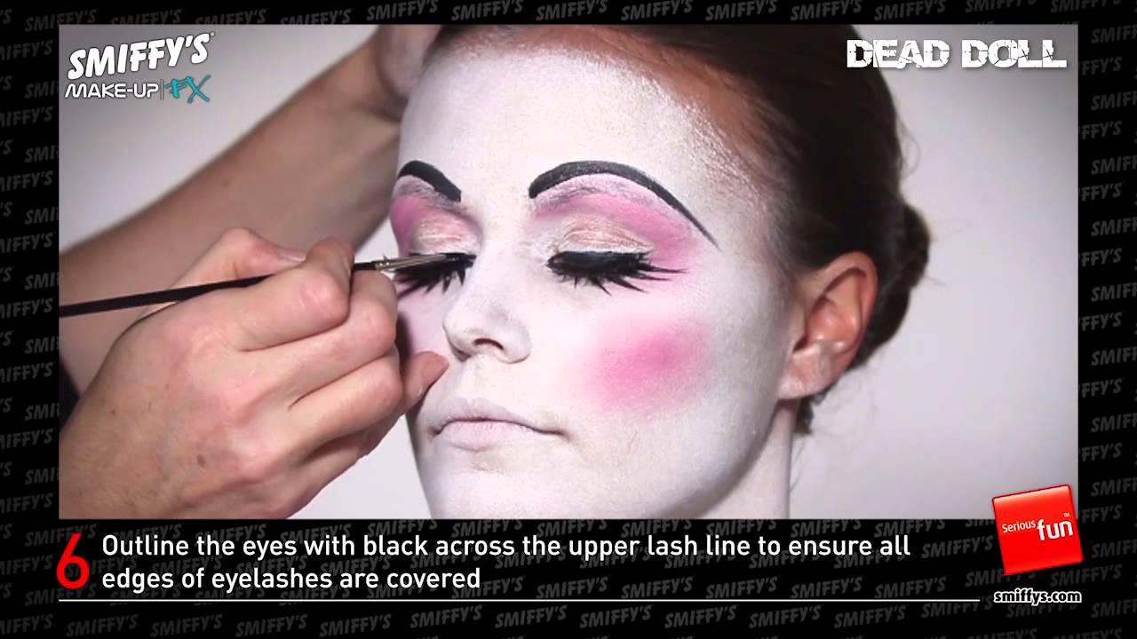 Dead Doll Face Painting Make Up Tutorial Youtube