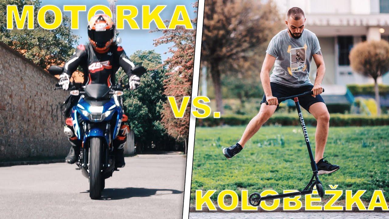 MOTORKA vs. KOLOBĚŽKA! **ZÁVOD PRAHOU!**