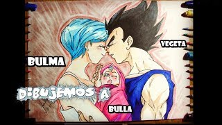 Como Dibujar a Vegeta y  a Bulma  con su Hija Bra /How to Draw Vegeta and Bulma