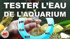 Tester l'eau de l'aquarium