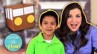 """Diy Kids Craft Cardboard """"wheels On The Bus"""" 