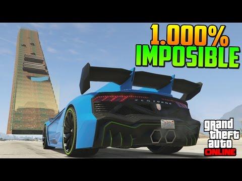 1.000% IMPOSIBLE! ESCALERA DE LA MUERTE!! - Gameplay GTA 5 Online Funny Moments (Carrera GTA V PS4)