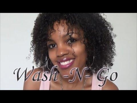 Natural Hair: Wash N Go on 3C hair - YouTube