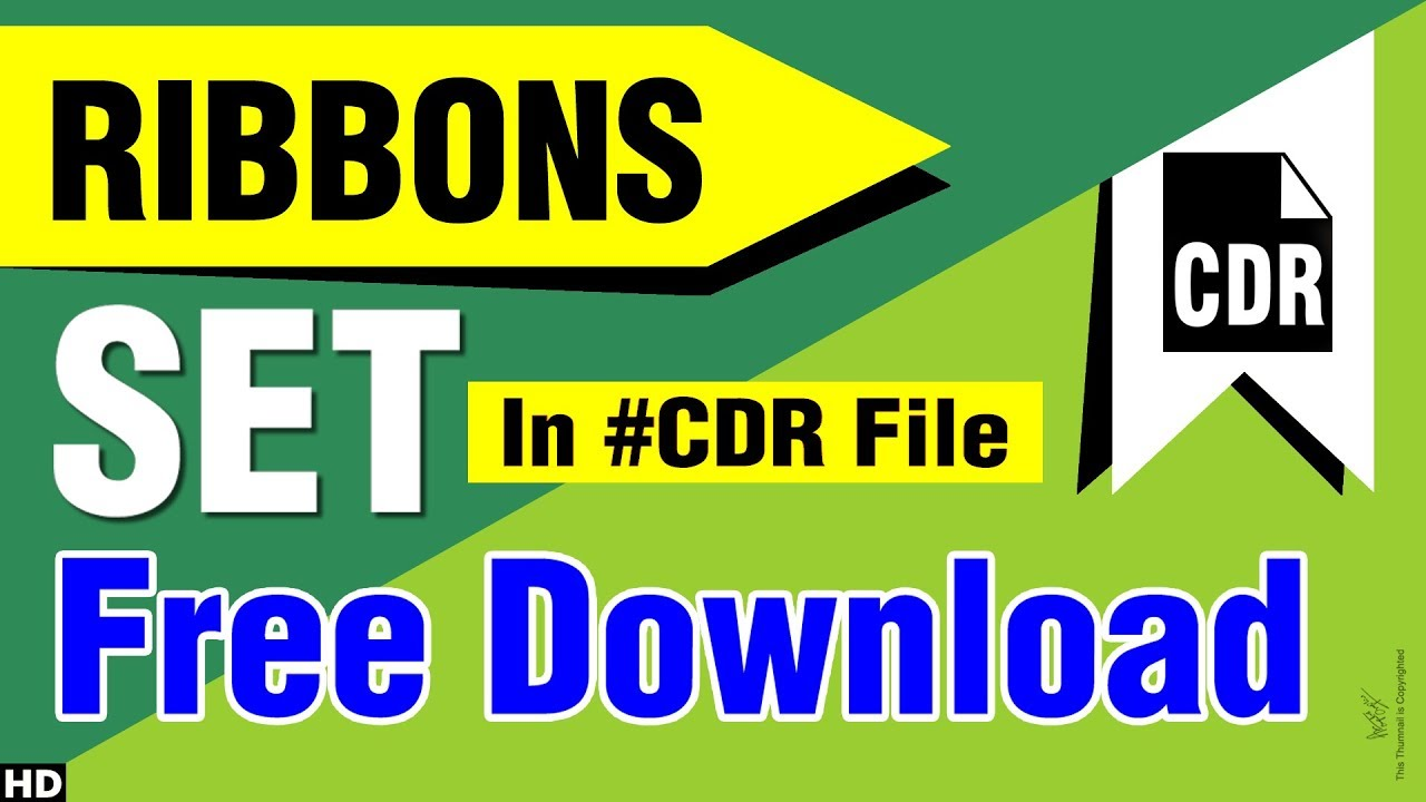 Ribbon vector set free download with CDR FILE - corel draw & pdf files,  learn corel, free - 2018