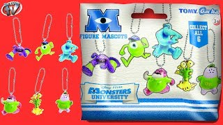 Disney Pixar Monsters University Figure Mascots Blind Bag Toy Review & Opening, Gacha Tomy, Surprise
