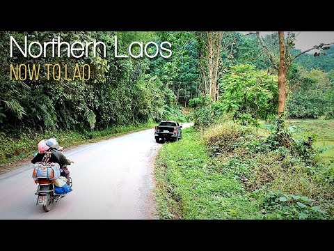Travel Laos: Driving through Jungle villages on the Road to Muang Sing Northern Laos - Now to Lao