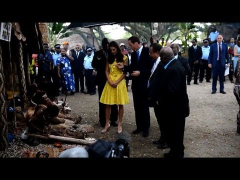 William and Kate in Solomons as topless row rages