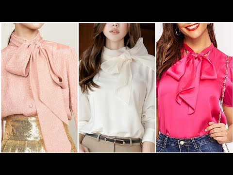 stylish-tie-knotted-neck-tops-designs-(2019)---beautiful-multi-knotted-neck-blouse-design
