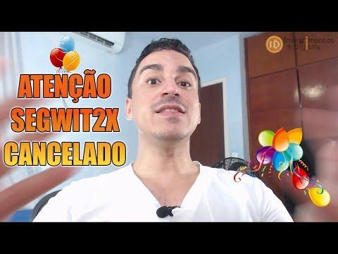 ATENÇÃO SEGWIT2X SUSPENSO ! BITCOIN SEGUE FIRME E FORTE !