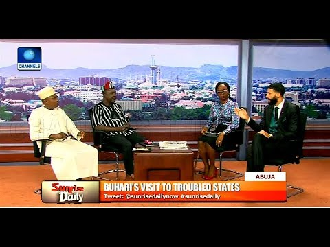 Reviewing Buhari's Visit To Troubled States With Garba Shehu, Tahav Agerzua Pt.1 |Sunrise Daily|
