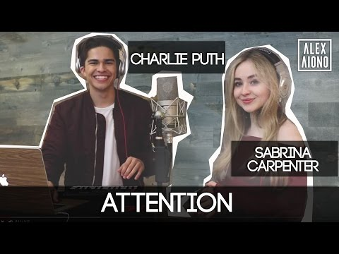 Mix - Attention by Charlie Puth | Alex Aiono and Sabrina Carpenter Cover