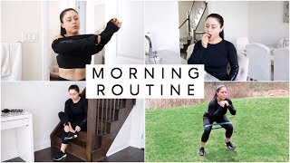 MY SPRING MORNING ROUTINE OUTDOOR WORKOUT 2018