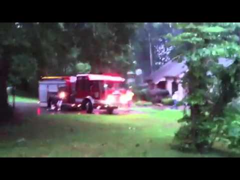 Power cable causes fire in riceville Tn.