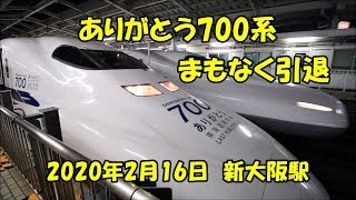 引退直前の新幹線700系 新大阪駅 700 series just before retirement, Shinkansen Shin-Ōsaka Station (2020.2.16)