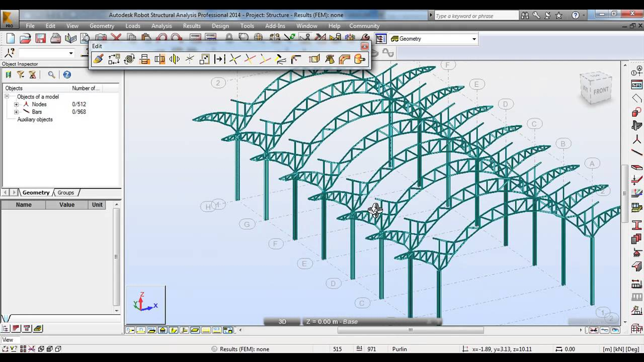 Autodesk Robot Structural Analysis 2014 Tutorial Modeling