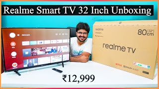 Realme Smart Android HD Led TV Unboxing 32 inch - खरीदने लायक- It's Awesome