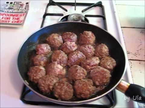 Polish Food – Meatballs with Mushroom Sauce – Polish Cuisine
