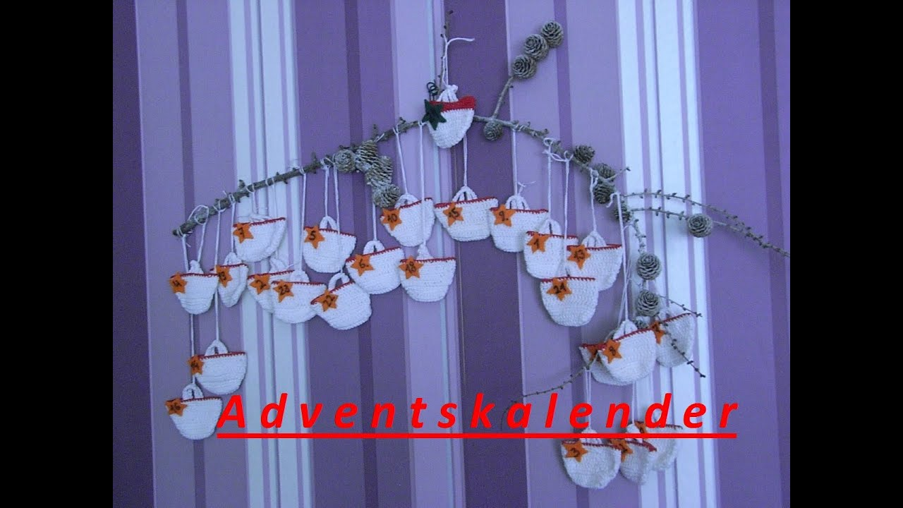 Diy Adventskalender Häkelntaschen Häkelnweihnachtenhandarbeit
