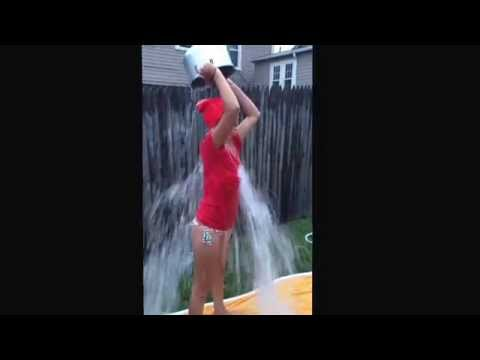 ALS awareness Ice bucket challenges in support of Pete Frates! #StrikeOutALS #TeamFrateTrain