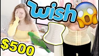 I SPENT $500 AT WISH!! HUGE HAUL AND TRY ON (YWIIBI PT2)