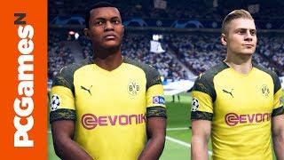 FIFA 19 PC gameplay on a GTX 1080Ti - Spurs vs. Dortmund | Gamescom 2018