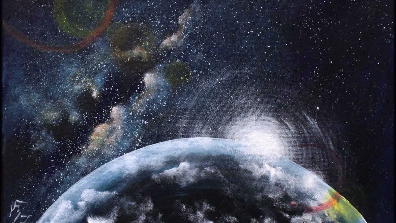 The universe planets paintings images for Space matte painting
