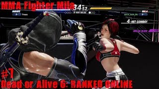 Dead Or Alive 6 PS4 Gameplay #7 (MMA fighter Mila)
