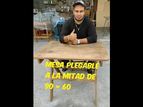MESA PLEGABLE A LA MITAD DE 90  POR 60