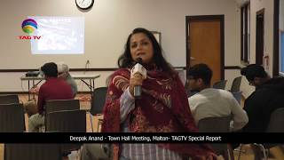 Deepak Anand Town Hall Meeting , Malton- TAGTV Special Report