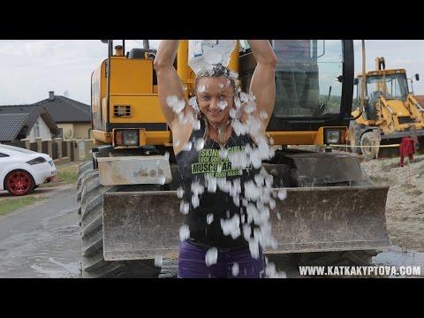 Katka Kyptova ALS Ice Bucket Challenge