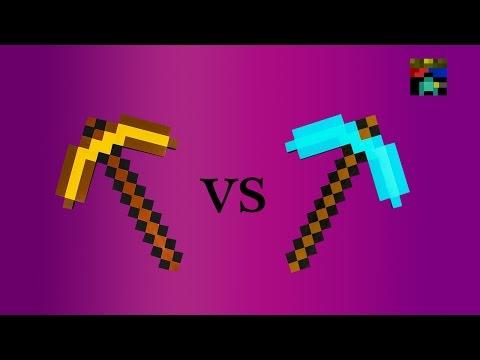 Minecraft- ¿Qué Pico Es El Más Rápido? Test