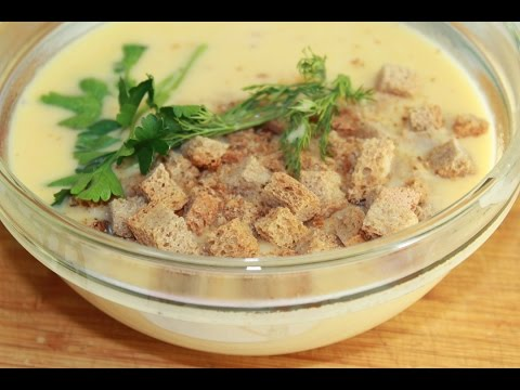 Сырный суп-пюре. Очень вкусно и просто.