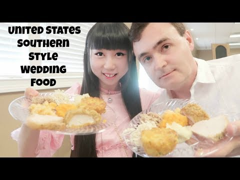 Fiance and I Tasting United States Southern Style Wedding Food