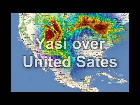 Tropical Cyclone Yasi Size comparison of America.