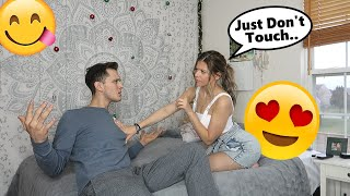 YOU CAN LOOK, BUT YOU CAN'T TOUCH PRANK ON BOYFRIEND!!!