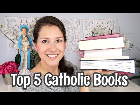5 CATHOLIC books I will NEVER get rid of!  Along with my favorite Catholic Bible