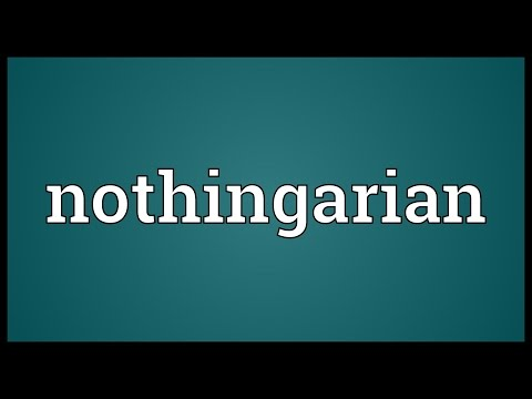 Header of nothingarian