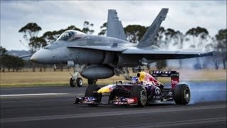 Red Bull's Daniel Ricciardo Feels The Force - F1 Car vs F/A-18 Hornet