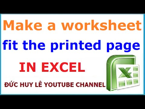 Scale to Fit Excel Spreadsheet to Print One Page - YouTube