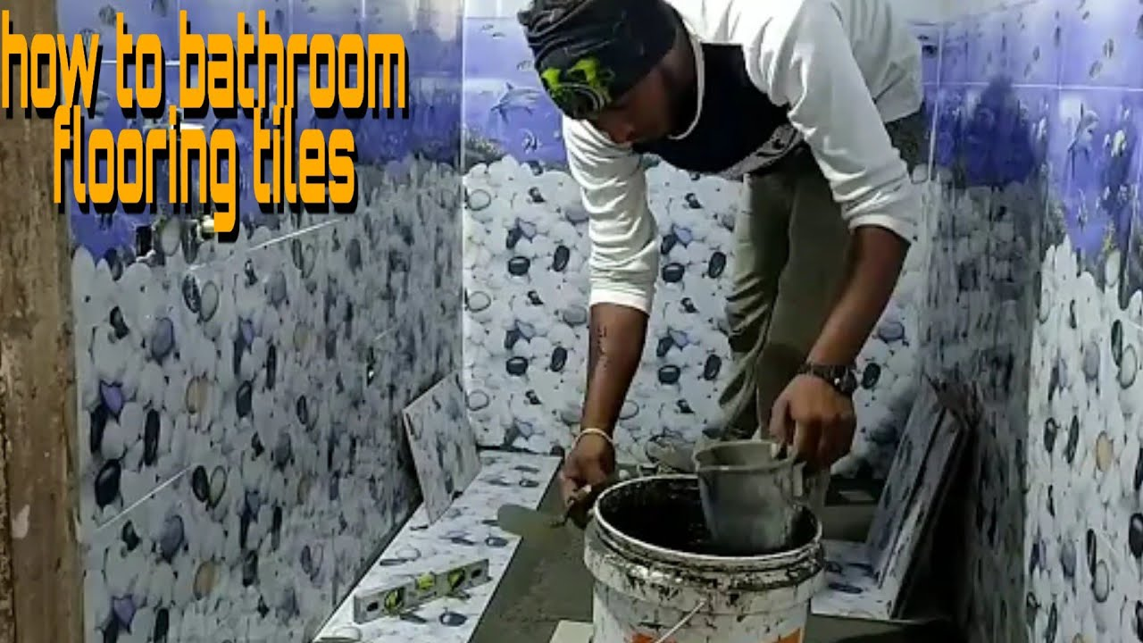 How To To Bathroom Wall Tiles And Floor Tiles Total Install Youtube