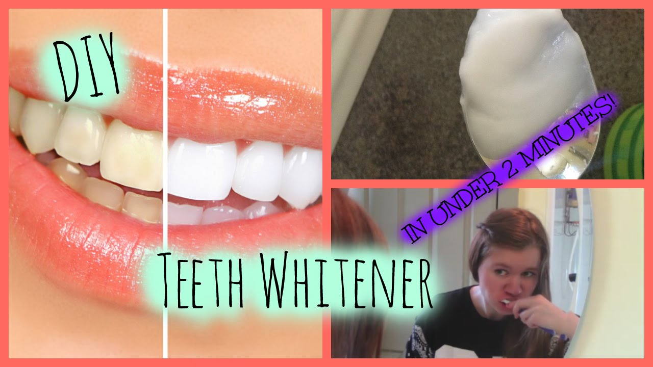 How To Whiten Your Teeth In 2 Minutes Super Easy Diy Teeth