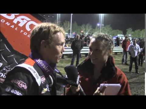 2015 World of Outlaws Sprint Car Series Victory Lane Night 1 at Calistoga Speedway