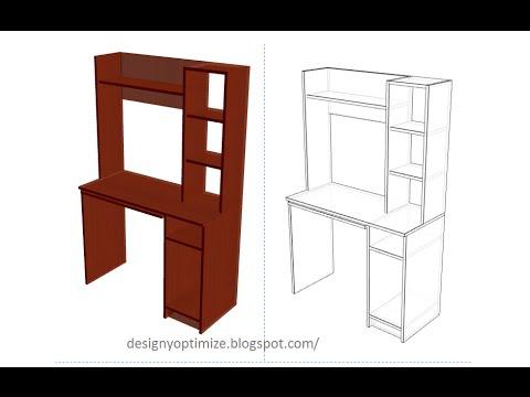 Mesa mueble moderno para computadorra tipo escritorio - Mueble escritorio moderno ...
