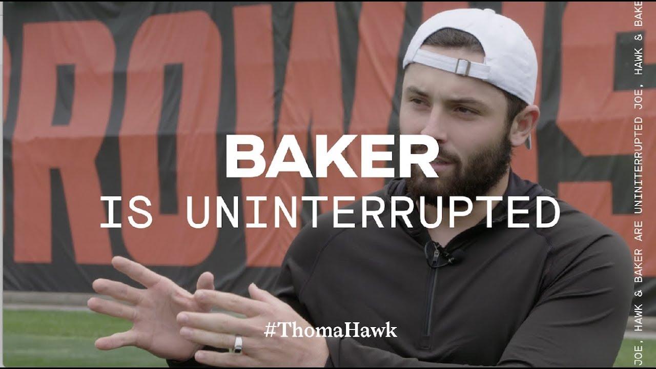 baker-mayfield-joe-thomas-andrew-hawkins-on-tyrod-taylor-thomahawk-show