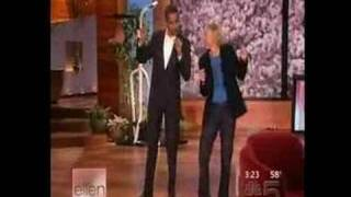 Barack Obama on Ellen(Obama 2012: Are you in? http://my.barackobama.com/ellenvid As a guest on The Ellen Degeneres Show, Barack shows off his dancing skills., 2007-10-30T16:13:14.000Z)