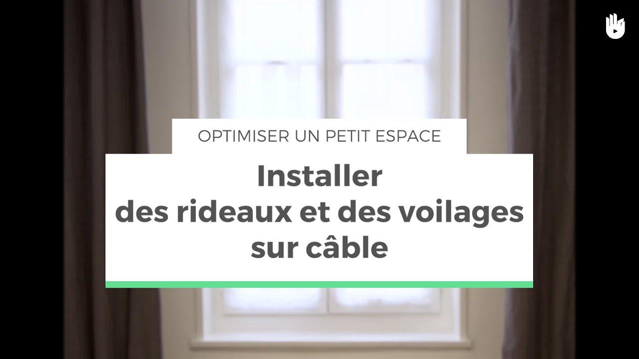 installer des rideaux et des voilages sur cable optimiser un petit espace