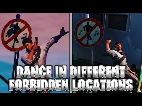 Dance In Different Forbidden Locations (Fortnite ALL LOCATIONS)