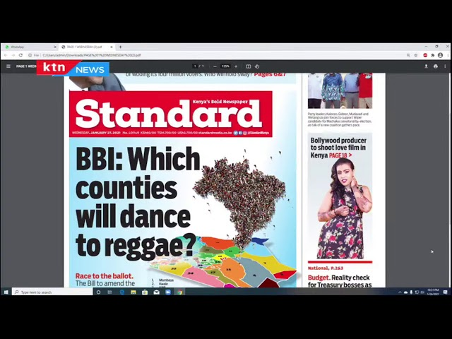 Which counties will dance to BBI reggae? | The Standard